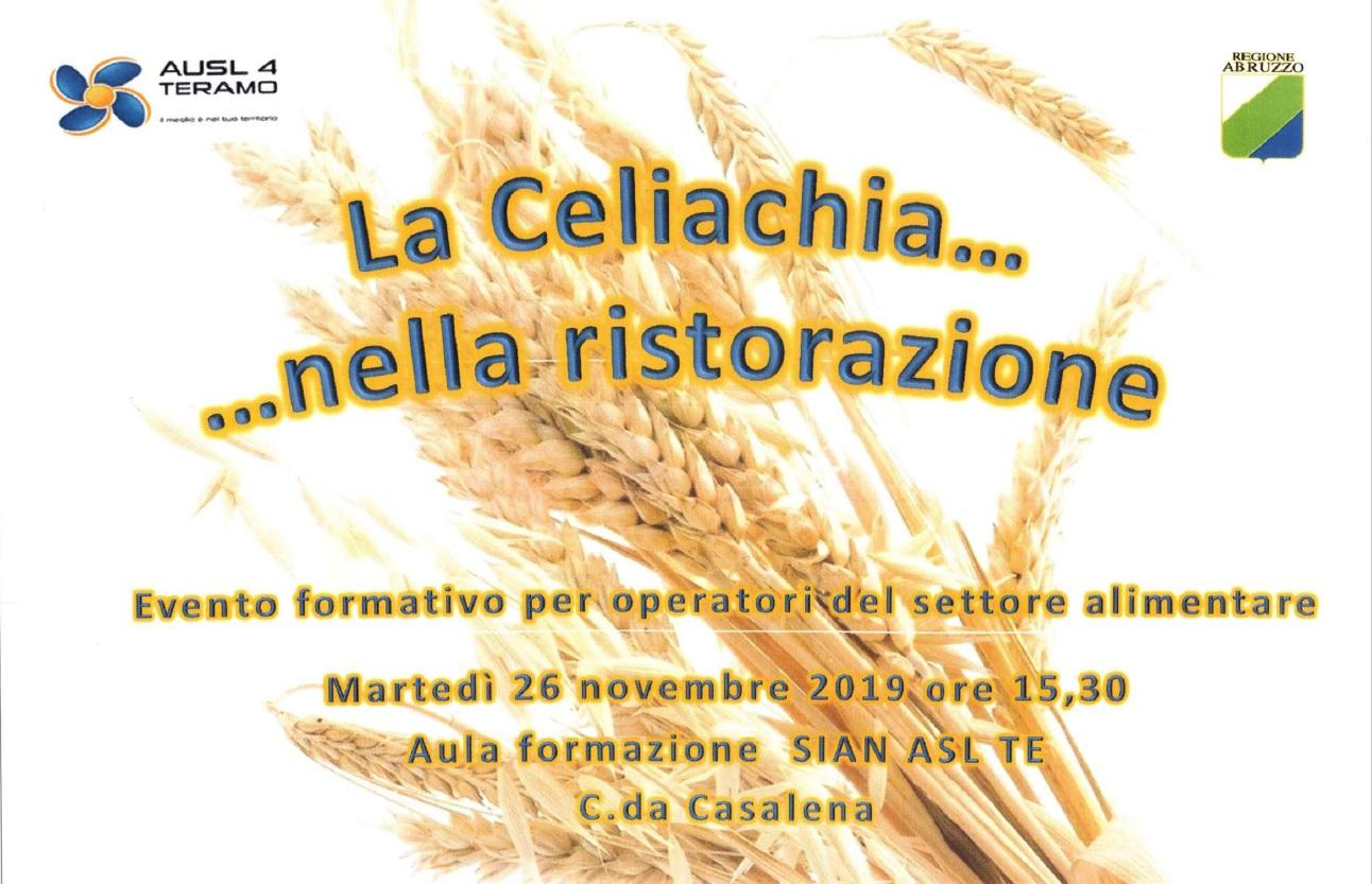 Evento formativo per operatori del settore alimentare addetti alla produzione/somministrazione/ vendita diretta di alimenti per celiaci